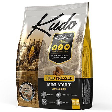 Корм для собак Kudo мелких пород цыпленок 7.5 кг