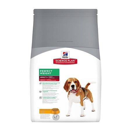 Корм для собак HILLS Science Plan Perfect Weight склонных к набору веса с курицей сухой 10кг