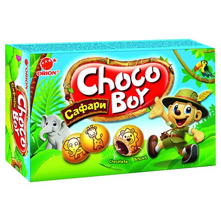 Печенье CHOCO-BOY Safari с молочным шоколадом 45г