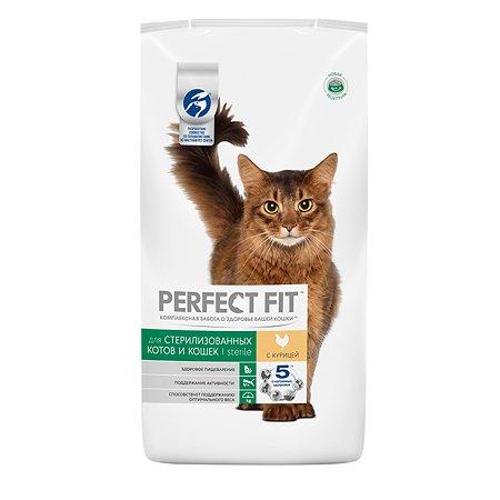 Корм сухой для кошек PerfectFit 3кг с курицей стерилизованных
