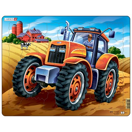Пазл Larsen Трактор 37деталей US4