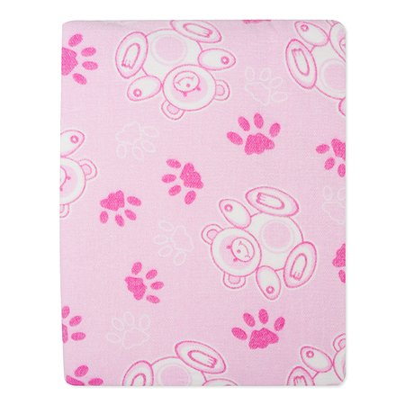 Одеяло байковое Babyton розовое 100х140