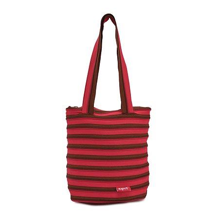 Сумка Zipit Premium Tote/Beach Bag цвет розовый/коричневый