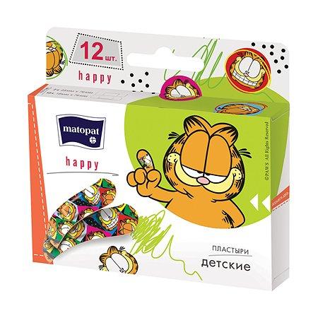 Набор детских пластырей Matopat Happy 12 шт