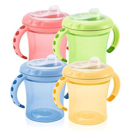 Поильник Nuk Cup 1 Easy Learning с мягкой насадкой для питья и ручками 210 мл с 6 мес+ в ассортименте