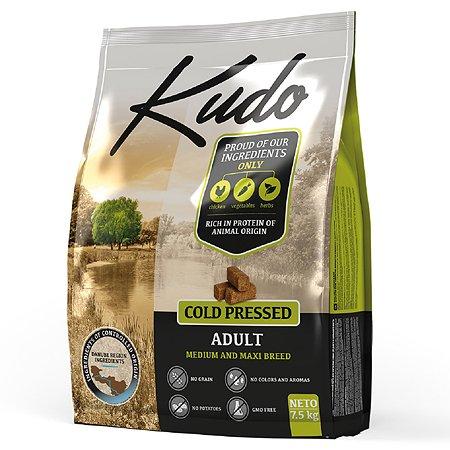 Корм для собак Kudo средних и крупных пород цыпленок 7.5 кг