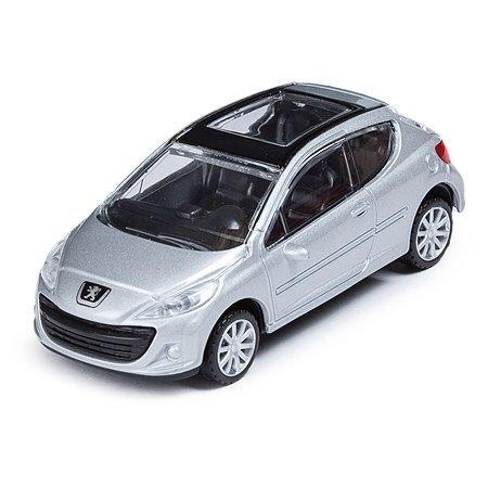 Машинка Rastar Peugeot 207 1:43 Серебристая
