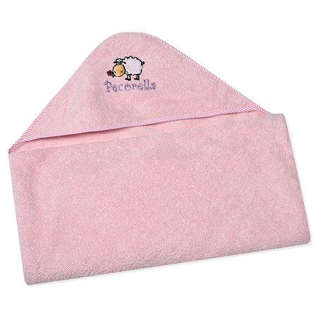 Полотенце с капюшоном Pecorella Розовое