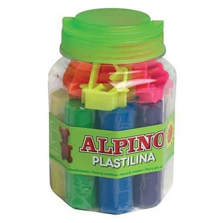 Набор пластилина ALPINO с формами для лепки 8 цв.