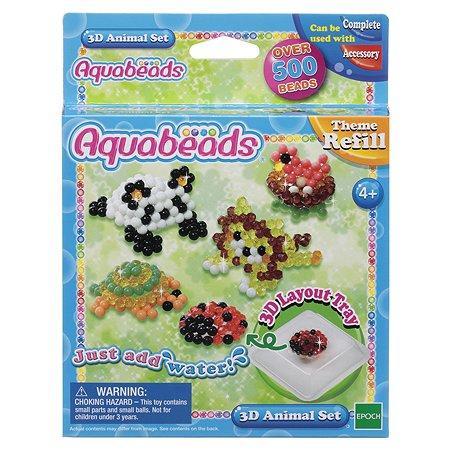 Тематический набор бусин Aquabeads Зверюшки в 3D