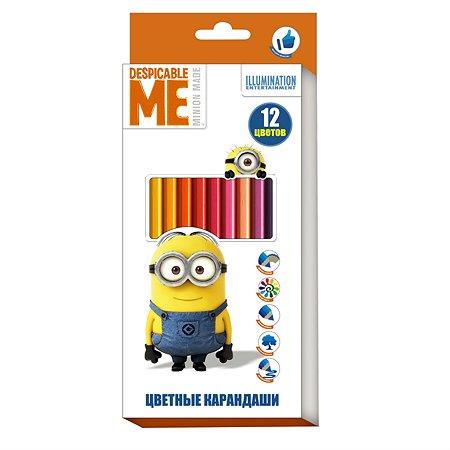 Цветные карандаши Росмэн Despicable Me 12 цветов