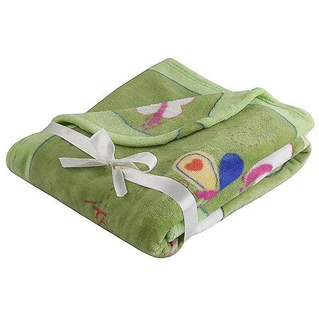 Плед Наша мама Слоник зеленый (велсофт)