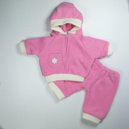 Одежда для кукол Модница Костюм для пупса 43 см из флиса: куртка с капюшоном и штанишки в ассортименте