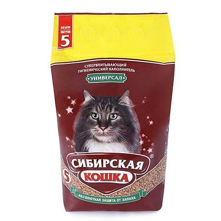 Наполнитель для кошек Сибирская кошка Универсал впитывающий 5л