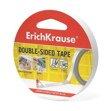 Лента клейкая Erich Krause двусторонняя 12ммх10м