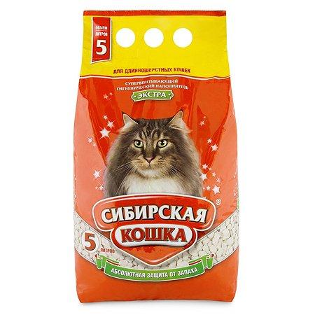 Наполнитель для кошек Сибирская кошка Экстра для длинношерстных впитывающий 5л
