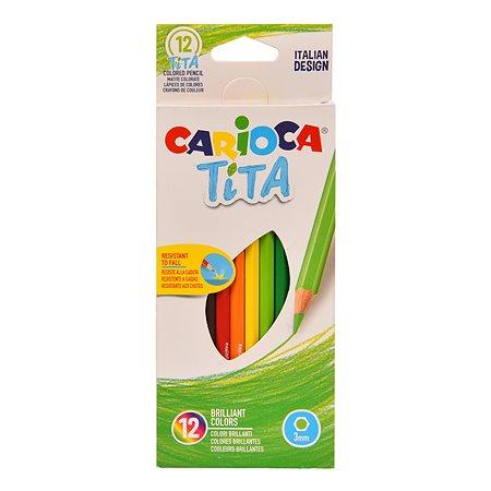 Карандаши цветные CARIOCA Tita 12цветов 42793
