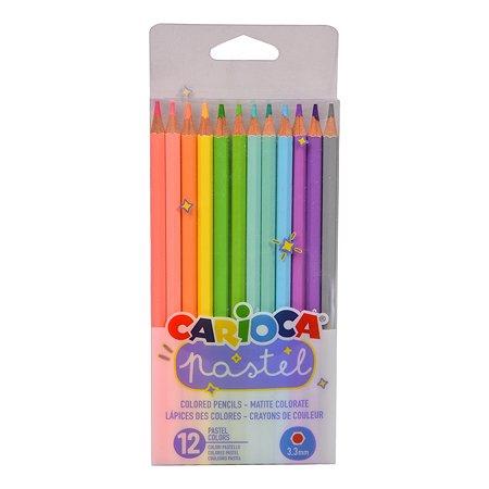 Карандаши цветные CARIOCA Pastel 12цветов 43034
