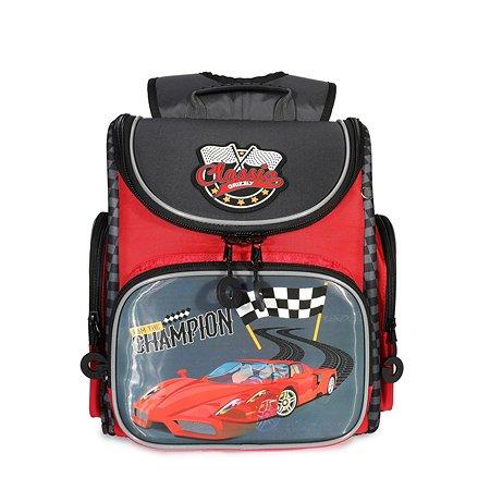 Рюкзак школьный Grizzly Финиш Красный-Темно-серый RA-970-4/2