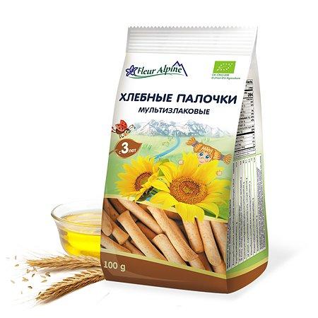 Палочки хлебные Fleur Alpine Органик мультизлаковые 100г с 3лет
