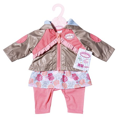 Одежда для кукол Zapf Creation Baby Annabell для прогулки Розовая 701-973P