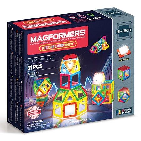 Магнитный конструктор Magformers Neon LED set 31P