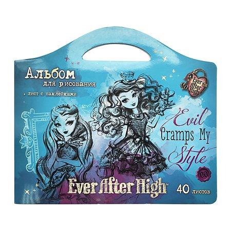 Альбом для рисования Barbie EAH фигурный с наклейками 40 л