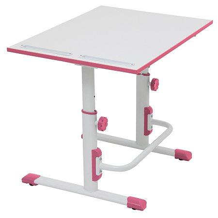 Парта-трансформер Polini kids Simple М1 Белый-Розовый