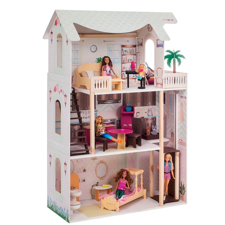 Кукольный домик PAREMO Сан-Ремо с мебелью 20предметов свет звук PD318-06
