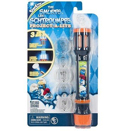 Фонарик-проектор 3 в 1 Smurfs (Фонарь-Лампа-Проектор) Смурфы