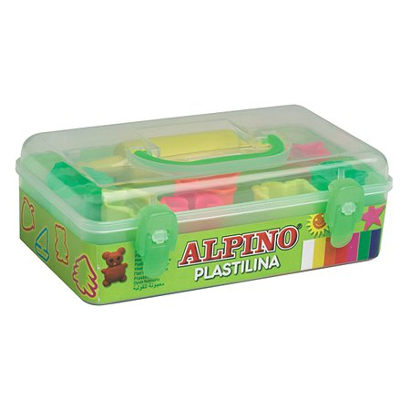 Набор пластилина ALPINO с формами для лепки 7 цв.