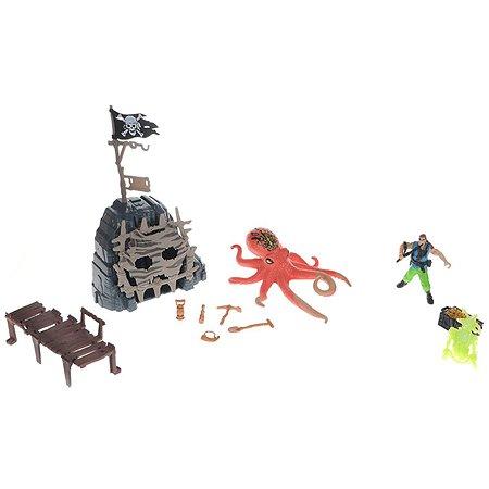 Игровой набор Chapmei ПИРАТЫ Сражение с осьминогом