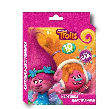 Пластилин Centrum 10 цветов Тролли картинка Тролли 200 гр стек пластиковый картонная упаковка с европодвесом