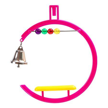 Игрушка для птиц PennPlax Качели со счетами и колокольчиком 11-14см ВА506