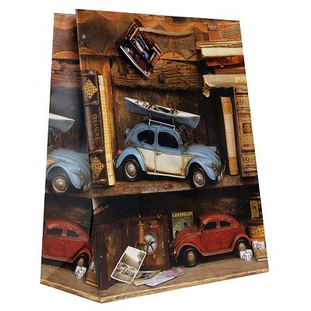 Пакет подарочный Eureka Книги и машинки 26*32.5*12.5см EUL/160320
