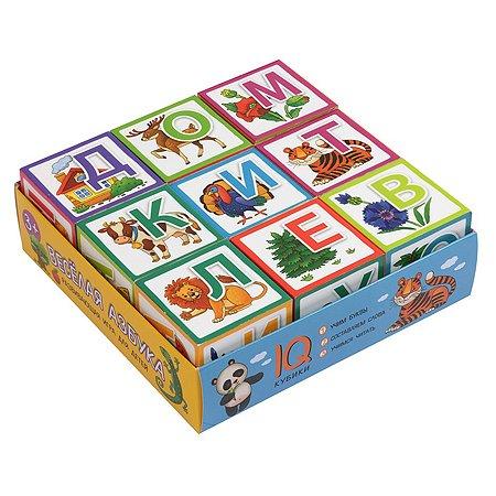 Кубики Умные Айрис ПРЕСС Веселая азбука 9шт