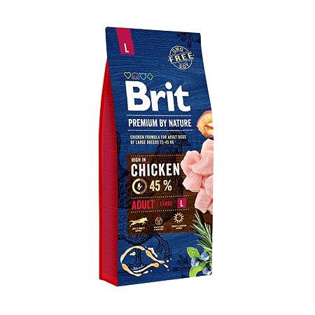 Корм для собак Brit Premium крупных пород курица 15кг