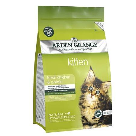 Корм сухой для котят Arden Grange Kitten 400г беззерновой с курицей и картофелем
