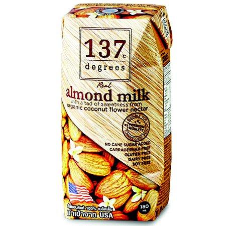 Молоко 137 Degrees миндальлное с нектаром кокосовых соцветий 180мл