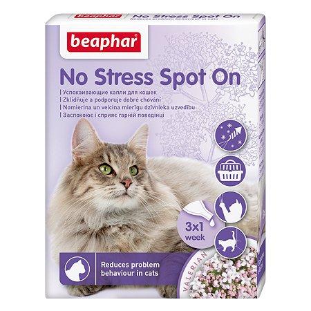 Капли для кошек Beaphar No Stress spot on cat успокаивающие 3*0.4мл
