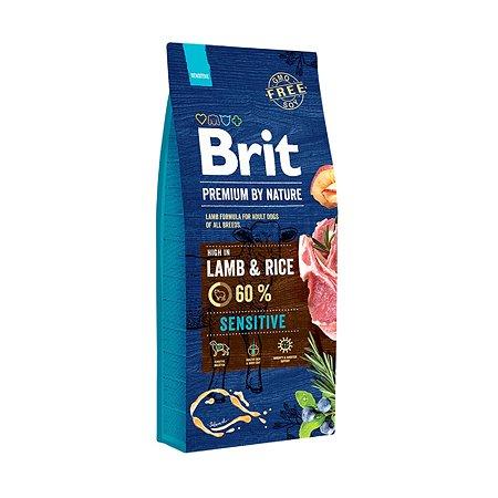 Корм для собак Brit Premium с чувствительным пищеварением ягненок 15кг
