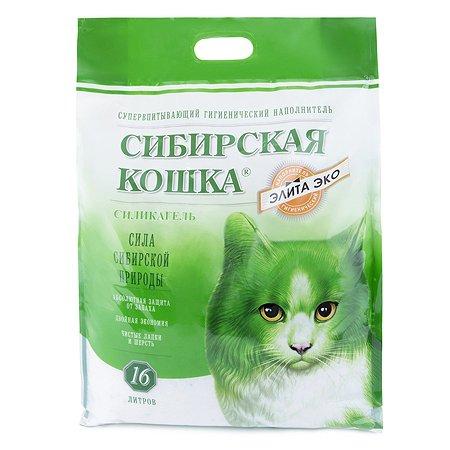 Наполнитель для кошек Сибирская кошка Элита Эко 16л