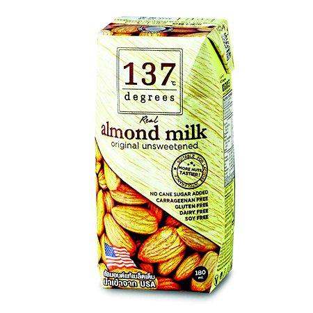 Молоко 137 Degrees миндальное без сахара 180мл