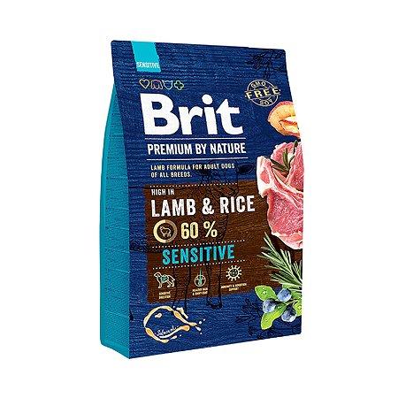 Корм для собак Brit Premium с чувствительным пищеварением ягненок 3кг