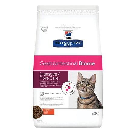 Корм для кошек HILLS Prescription Diet Gastrointestinal Biome c курицей 5кг