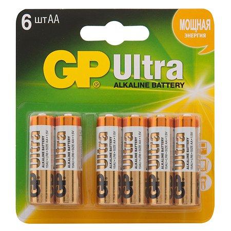 Батарейки GP Ultra алкалиновые (щелочные) тип АА (LR6) 6 шт