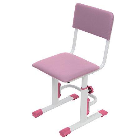 Стул Polini kids City Polini Smart для школьника регулируемый S Белый-Розовый