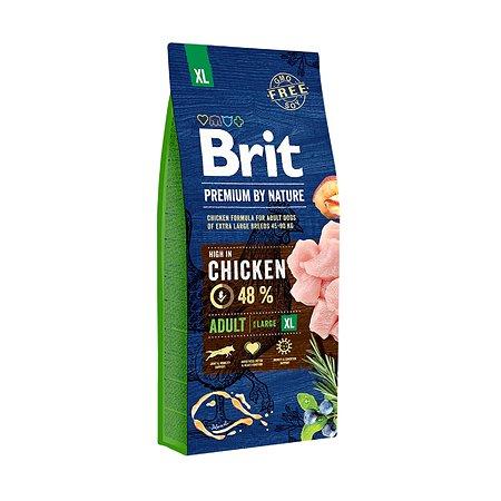 Корм для собак Brit Premium гигантских пород курица 15кг