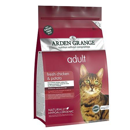 Корм сухой для кошек Arden Grange Adult 400г беззерновой с курицей и картофелем