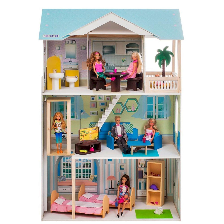 Кукольный домик PAREMO Лацио с мебелью 16предметов PD318-16